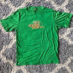 [The North Face] Green Shirt Sleeve Tee Shirt
